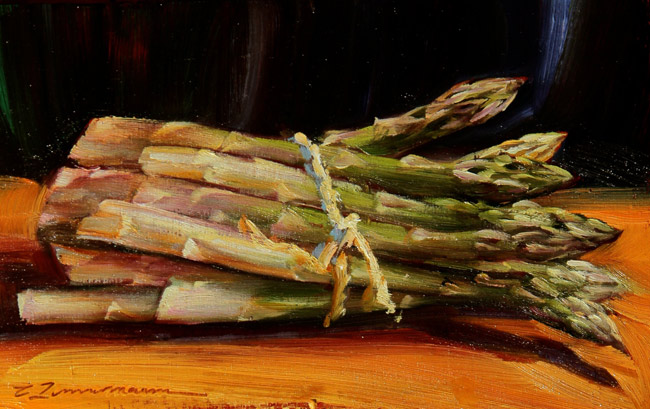 Bundle of Asparagus by Caroline Zimmermann