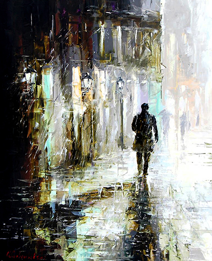 Walking In The Rain by Gleb Goloubetski
