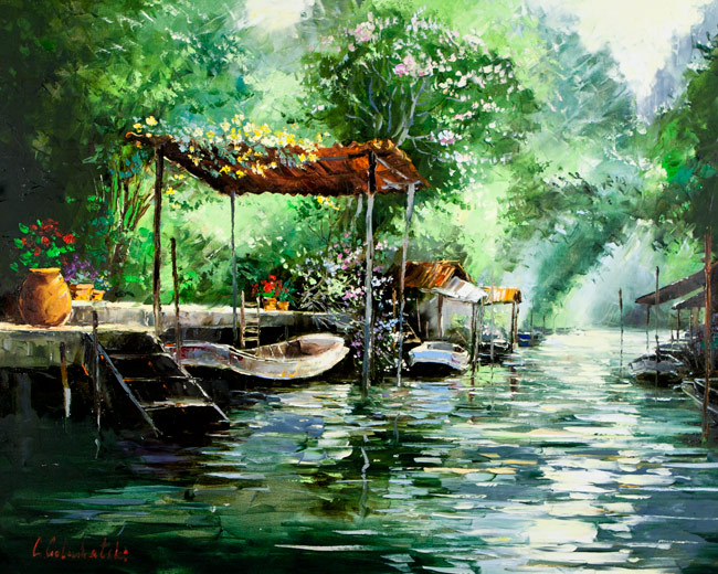 Thailand Oil Paintings On Canvas