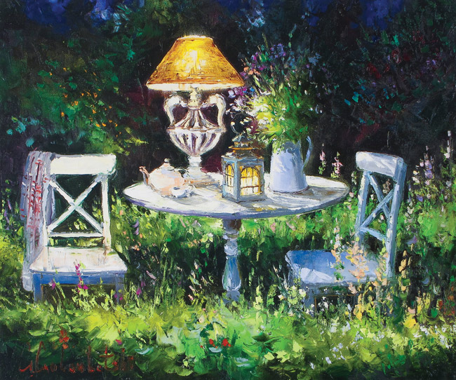 Tea in the Garden by Gleb Goloubetski