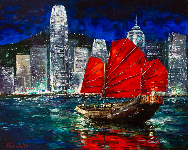 Hong Kong Harbour by Gleb Goloubetski