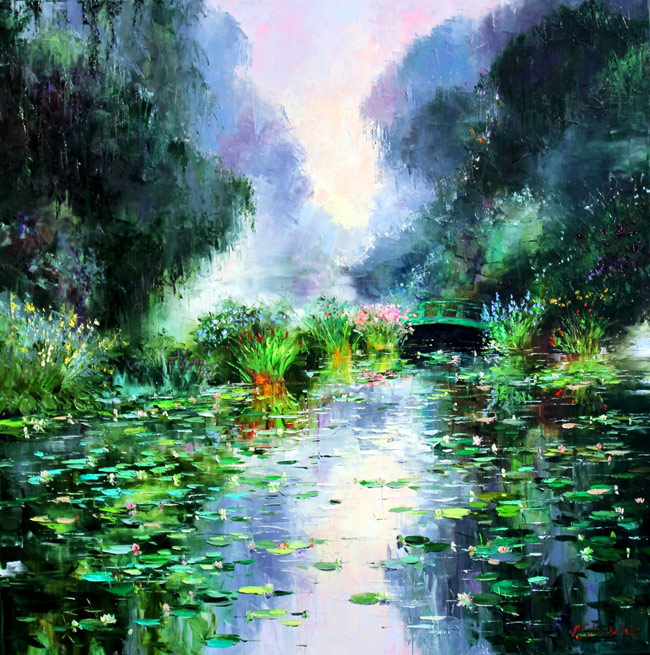 Reflections of Giverny by Gleb Goloubetski