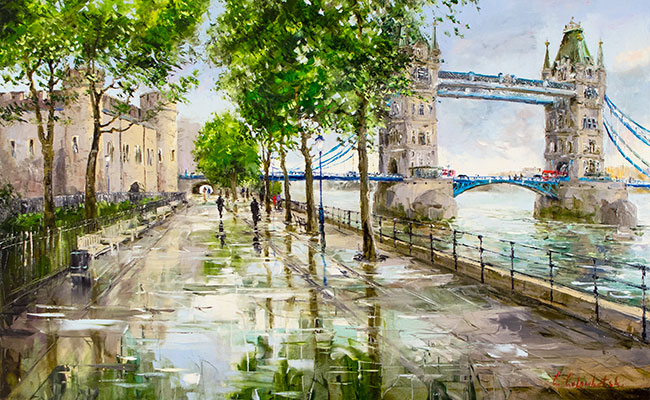 Towers of London by Day by Gleb Goloubetski