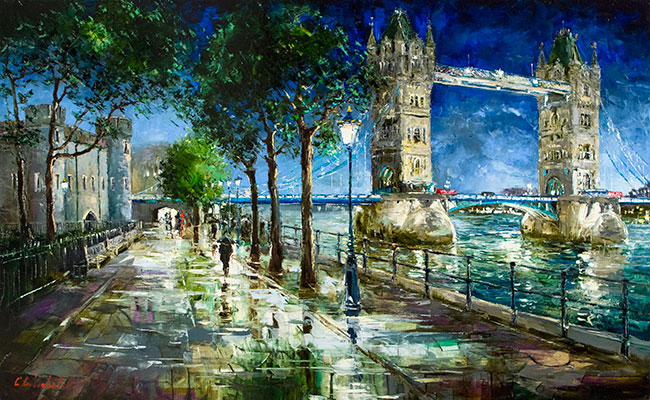 Towers of London by Night by Gleb Goloubetski