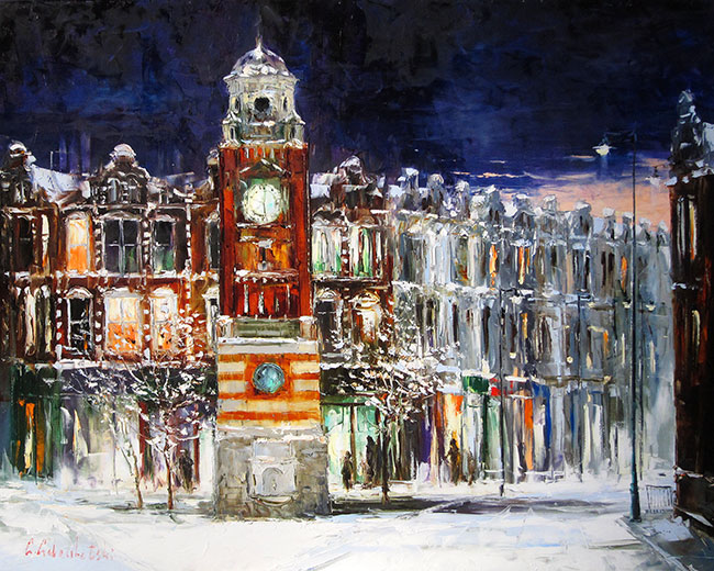 Winter in Crouch End by Gleb Goloubetski